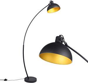 Black Arc Floor Lamp