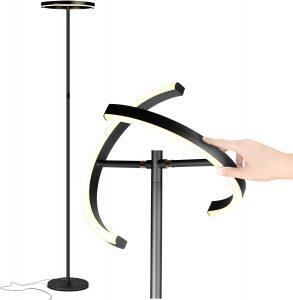 Brighttech Modern LED torchiere floor lamp
