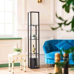 CO-Z Floor Lamp, Etagere Lamp with Shelves