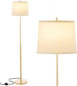 Gold Floor Lamp, Ambimall Modern Standing Lamp Simple Design