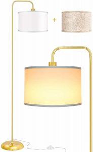LED Gold Floor Lamp for Living Room