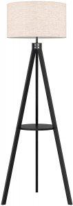 LEPOWER Black Tripod Floor Lamp