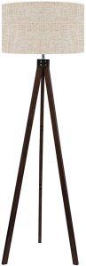 LEPOWER Black Wood Tripod Floor Lamp
