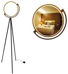 Modern Black Tripod LED Floor Lamp LED Ring Light