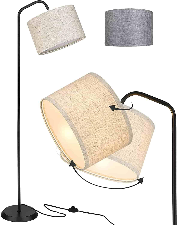 Modern Floor Lamp for Living Room Black