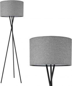 Tripod LED Modern Black Floor Lamp for Bedroom